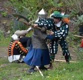 Soldados de infantaria medievais Fotos de Stock Royalty Free