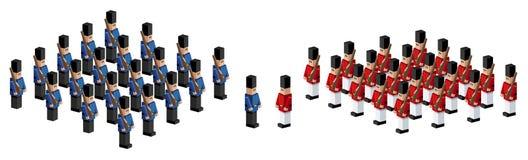 Soldados de juguete stock de ilustración