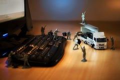 Soldados de juguete verdes fotos de archivo libres de regalías