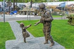 Soldados de la ATO del monumento Imágenes de archivo libres de regalías