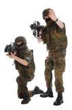 Soldados de la Bundeswehr (ejército alemán). Imagen de archivo