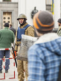 Soldados de la defensa de Maidana foto de archivo