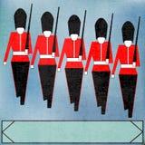 Soldados de la guardia que marchan Imagen de archivo libre de regalías