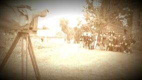 Soldados de la guerra civil que presentan para una foto del tintype (versión de la cantidad del archivo) metrajes