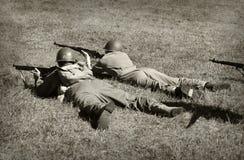 Soldados de la guerra mundial 2 Foto de archivo libre de regalías