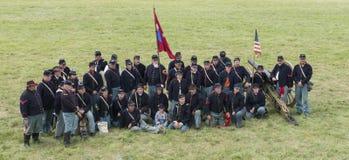 Soldados de la unión en Gettysburg Foto de archivo libre de regalías