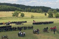 Soldados de la unión en Gettysburg Fotografía de archivo