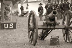 Soldados de la unión - sepia Imagen de archivo libre de regalías