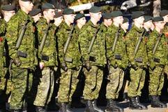 Soldados de los canadienses Imágenes de archivo libres de regalías