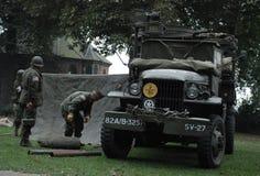 Soldados de los E.E.U.U. cerca del puente de Nimega Foto de archivo