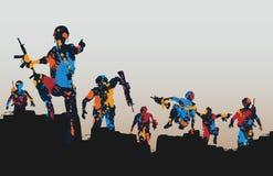 Soldados de Paintball Imagen de archivo libre de regalías