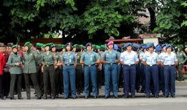 Soldados de sexo femenino Fotografía de archivo libre de regalías