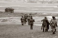 Soldados de URSS foto de archivo