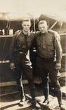 Soldados del ejército de la fotografía WWI del vintage Fotografía de archivo libre de regalías