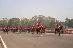 Soldados del ejército indio que marchan en Rajpath Fotografía de archivo libre de regalías