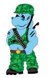 Soldados del hipopótamo stock de ilustración