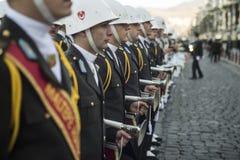 Soldados del músico de la High School secundaria Fotografía de archivo libre de regalías
