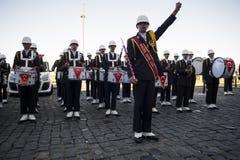 Soldados del músico de la High School secundaria Imagen de archivo