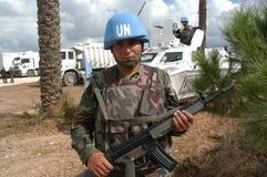 Soldados del turco de la O.N.U Imágenes de archivo libres de regalías