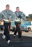 Soldados do exército em 5K Fotografia de Stock Royalty Free