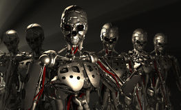 Soldados do robô Fotos de Stock