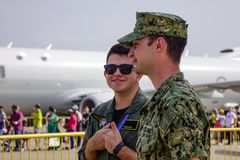 Soldados do U.S.A.F. da força aérea de E.U. imagens de stock