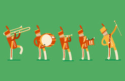 Soldados dos desenhos animados Imagens de Stock Royalty Free