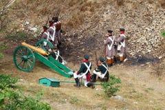 Soldados e canhão Imagem de Stock Royalty Free