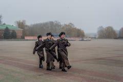 Soldados em Bresta Bielorrússia fotografia de stock