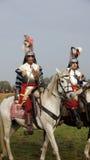Soldados em cavalos na batalha de Grolle Foto de Stock Royalty Free