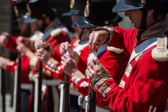 Soldados em uma demonstração no monte soberano Fotos de Stock Royalty Free