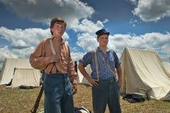 Soldados en Gettysburg Imagen de archivo