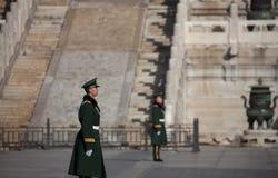Soldados en la ciudad Prohibida Fotografía de archivo