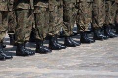 Soldados en la formación Imagen de archivo libre de regalías