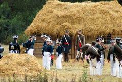 Soldados en una casa de campo Imagen de archivo libre de regalías