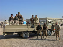 Soldados iraquianos do exército Foto de Stock Royalty Free