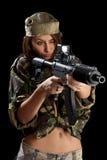 Soldados jovenes con los armas Fotografía de archivo libre de regalías