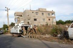 Soldados Líbano de la O.N.U imagenes de archivo