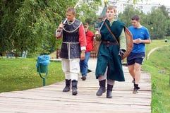 Soldados medievais Foto de Stock Royalty Free