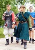 Soldados medievais Fotografia de Stock