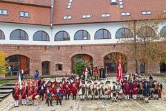 Soldados medievales en el bastión Imagen de archivo