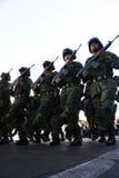 Soldados mexicanos del ejército durante un viaje Fotografía de archivo