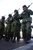 Soldados mexicanos del ejército durante un viaje Imagen de archivo libre de regalías