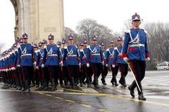 Soldados militares del desfile Foto de archivo