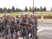 Soldados militares del museo Imagen de archivo libre de regalías