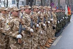 Soldados na formação Imagens de Stock Royalty Free