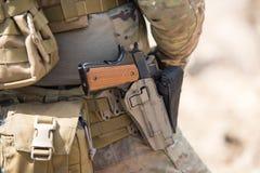Soldados nas forças especiais de exército dos EUA uniformes Imagens de Stock