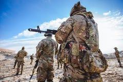 Soldados no treinamento Foto de Stock