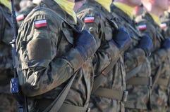 Soldados polacos imagen de archivo