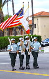 Soldados que marchan Foto de archivo